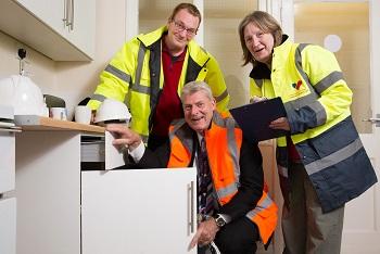 tenants inspectors viewing a house