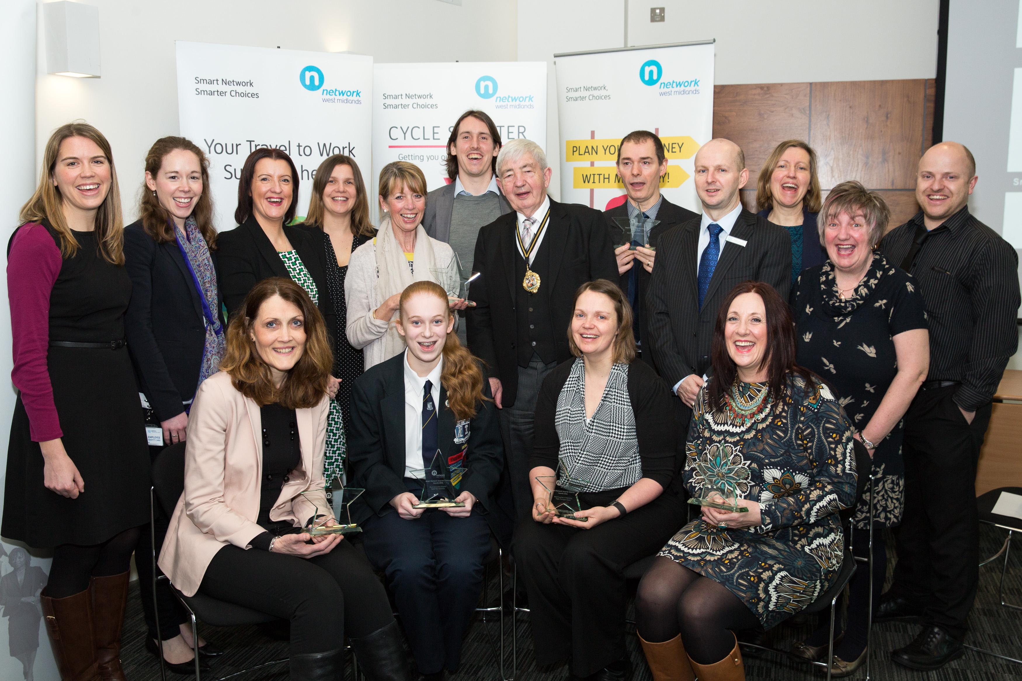 Lord Mayor Cllr Raymond Hassall with award winners.